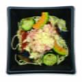 エビと旬野菜のトマトカレーパスタ