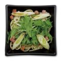 ベーコンと水菜のねぎ塩パスタ